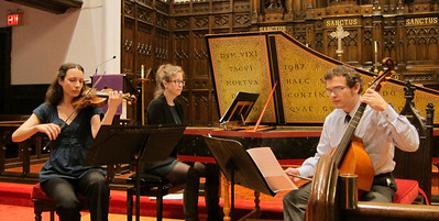 "The Waits Trio performed ""Music by Marin Marais and Antoine Forqueray"" at the March 28, 2012, Midtown Concert series in Manhattan. Trio members are Liv Heym, baroque violin; James Waldo, viola da gamba and cello; and Erin Hanke, harpsichord."