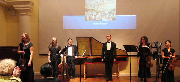 A Musical Feast in the Palaces of the Georgian Era, with the Sinfonia Players; Christine Gummere, artistic director; and John Kinnear, architect with the American Friends of the Georgian Group. Performed March 21, 2012, at the Abigail Adams Smith Auditorium, NYC.