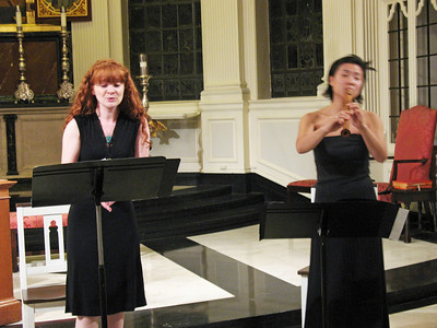 Musica Fantasia's members Julie Ryning and Ji-Sun Kim.