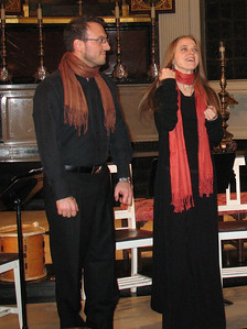 Ensemble Alkemia's members Danny Wiseman and Dorothea Ventura,.