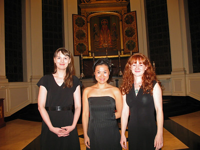 Musica Fantasia's members Katelyn Clark, Ji-Sun Kim, and Julie Ryning