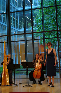 Anima's Christa Patton, Motomi Igarashi, and soprano Beth Anne Hatton