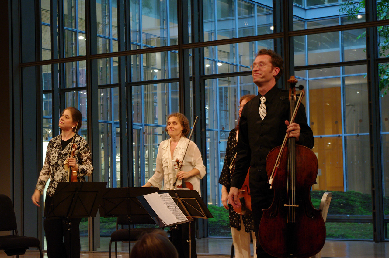 The Dodd String Quartet's Claire Jolivet, Theresa Salomon, Jessica Troy, James Wilson
