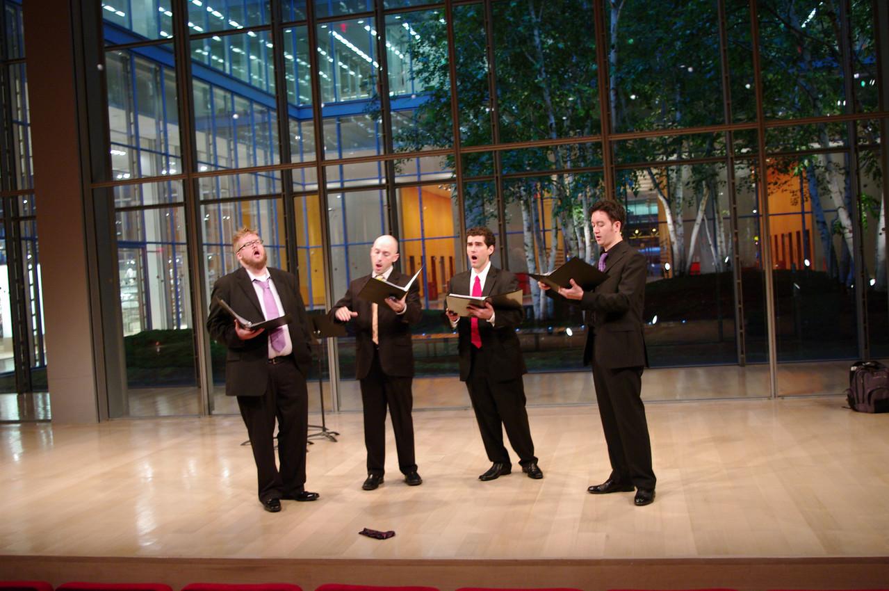 New York Polyphony's Geoffrey Williams, Craig Phillips, Scott Dispensa, Geoffrey Silver