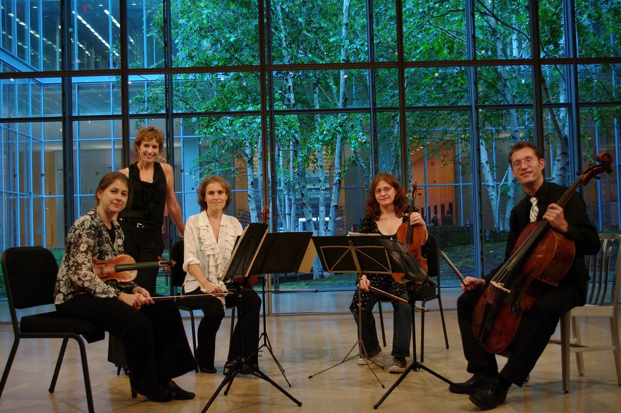 The Dodd String Quartet: Claire Jolivet, Suzanne Bona of Sunday Baroque, Theresa Salomon, Jessica Troy, James Wilson