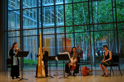 Anima's Vita Wallace, Christa Patton, Motomi Igarashi, and soprano Beth Anne Hatton