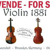 ANTIQUE VIOLIN - From Germany, from Dresden 1881. The maker is L. Lowendall<br /> PRICE: $7,000-U.S.$ - OR BEST OFFER<br /> <br /> LOCATION: Heredia (Santo Domingo)<br /> <br /> CONTACT: GarageSalesInCostaRica@gmail.com