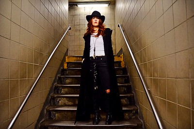 Cobble Hill, Brooklyn, New York - February 10, 2016: Album cover shoot with musician Nikki Fernandez on February 10, 2016 in Brooklyn, New York. Photo by Lukas Maverick Greyson © 2016 LMG