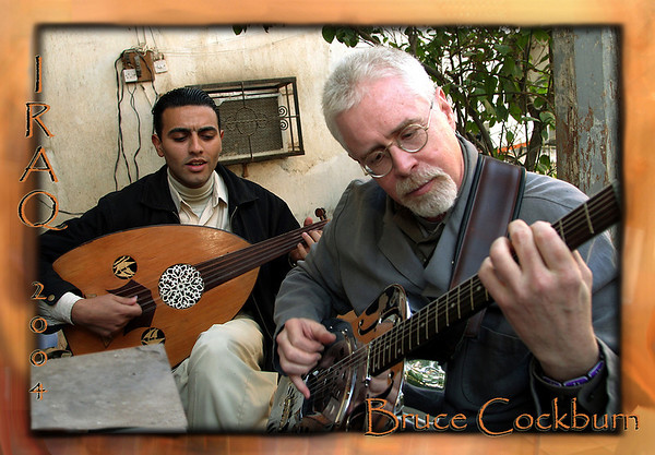 Bruce Cockburn, Iraq (2004) Postcard-front