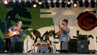 Cooper Tisdale, Eric Johnson, & the late Kenny Walker at the Atlanta Montreax Music Festival