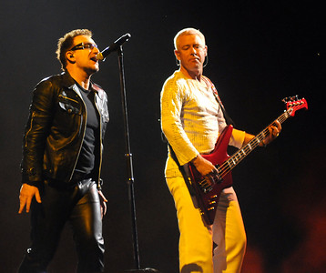 The band U2 performs at Vanderbilt Stadium in Nashville Saturday, July 2, 2011. By David Bundy