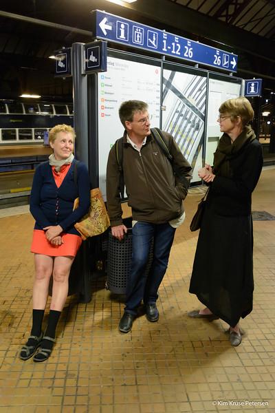 Eja, Jan og Kirsten på Københavns hovedbanegård