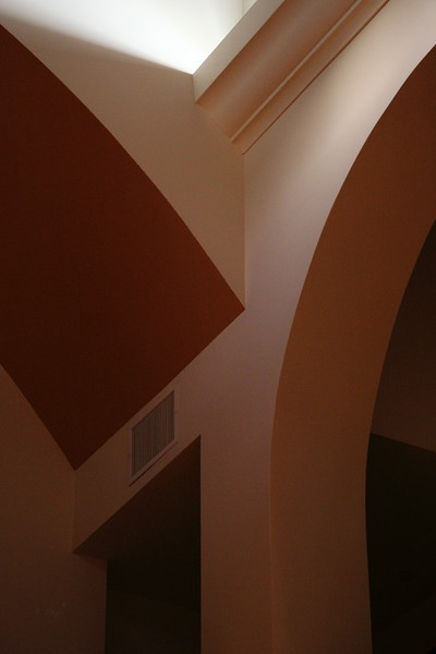 Interior geometry after lights out at the library.