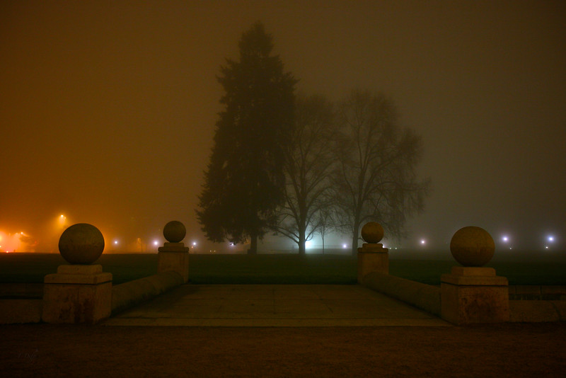 Three Sisters in Fog