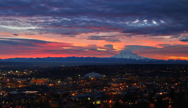 Tacoma winter sunrise