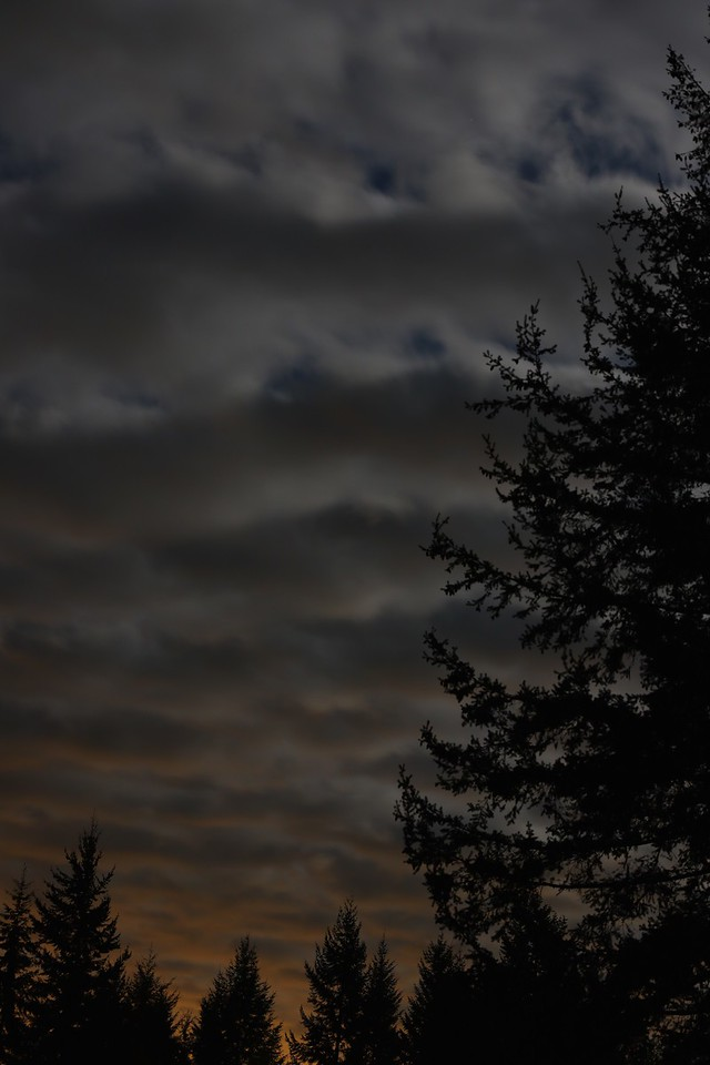 Curiously, the distant city glow was barely perceptible to my eye. I was mostly looking at the cloud banding.