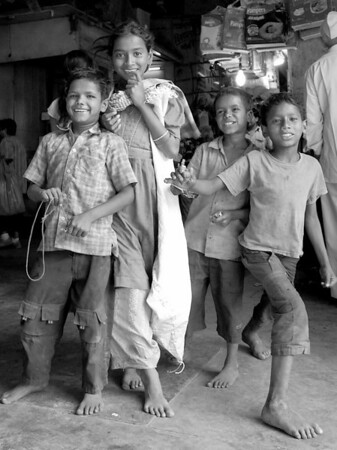"""Market Children"", Mumbai, India 2008  photograph by: Elizabeth Christopher © 2008"