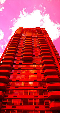 """Pink Sky"" New York City  photography by: Elizabeth Christopher © 2011"