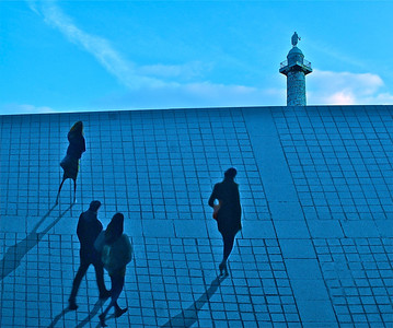 """Blue Perspective"" Paris, France  photography by: Elizabeth Christopher © 2012"