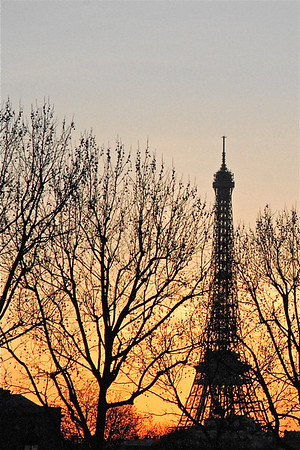 """Eiffel Tower Sunset"" Paris, France  photography by: Elizabeth Christopher © 2008"