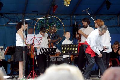 fête des vendanges 2007. Prestation de « Tradi-musik », groupe créé à l'occasion du stage de musique Tzigane animé par Tziganisky.