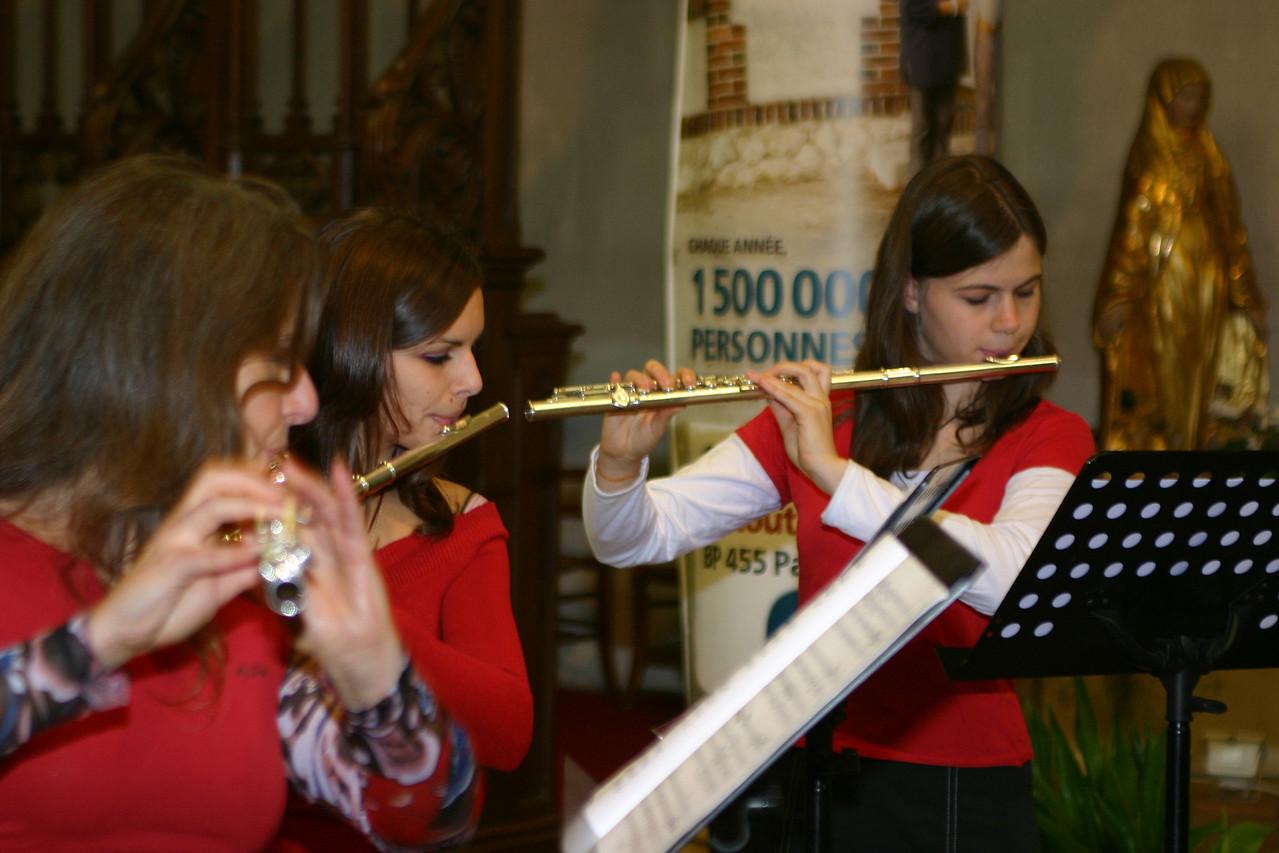 Concert de la Sainte Cécile à l'église Saint-fiacre classes de trompettes et flûtes, remise des diplômes et chorale.