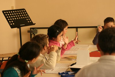cours de formation musicale - 7 classe de P. Sénécal (IM1)