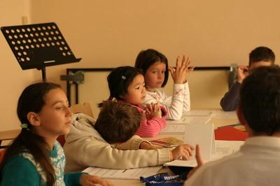 cours de formation musicale - 6 classe de P. Sénécal (IM1)