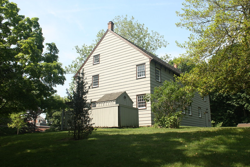 Matinecock Fridns meeting house, originally built in 1725.  Friends Academy can be seen in the left background