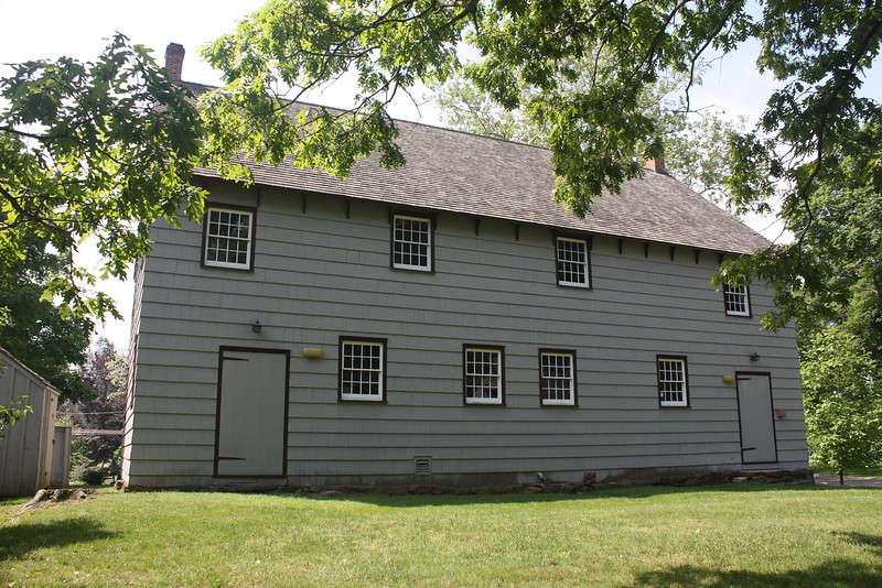 Matinecock Friends meeting house, Locust Valley, originally built in 1725.