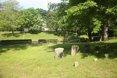 The burial ground at Matinecock Friends meetinghouse,