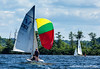 420 sailboats test the wind