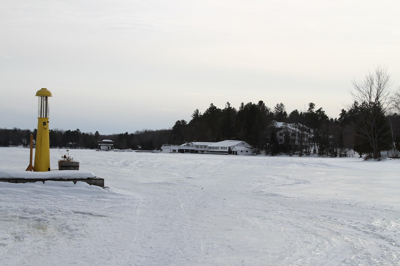 Looking from Wallace Marina to Clevelands House on Lake Rossea, Family weekend in February