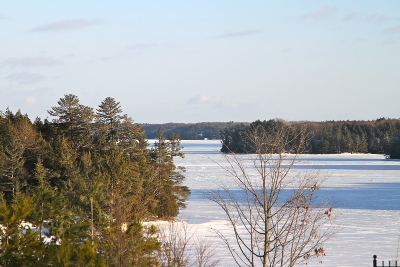 Looking out on Lake Rosseau from Wallace Marina