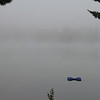 Brackenrig Bay, Muskoka , early morning in September 2012<br /> Fog lifting to see across the bay.