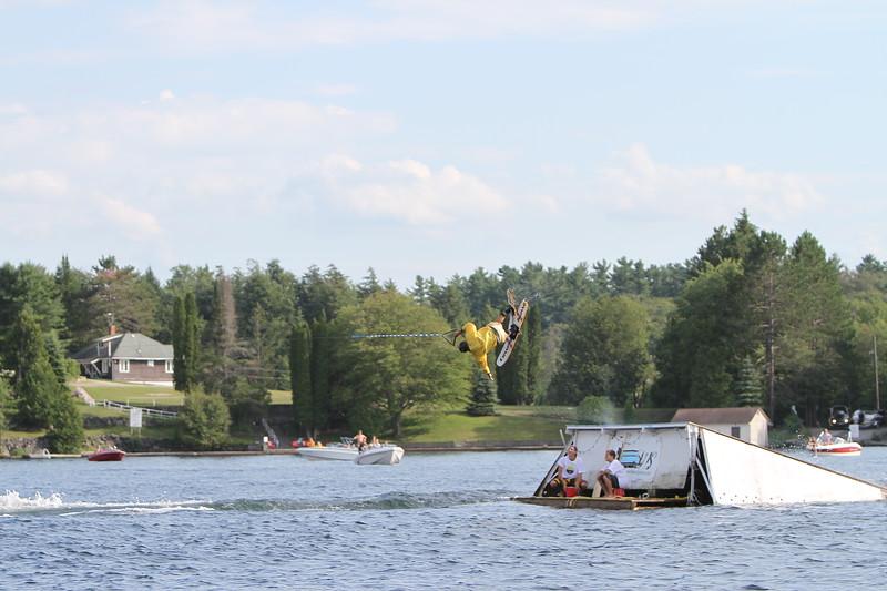 Summer Water Sports Jump for Ooch Fundraiser at Lake Joe Club on Lake Joseph Muskoka Ontario August 2011