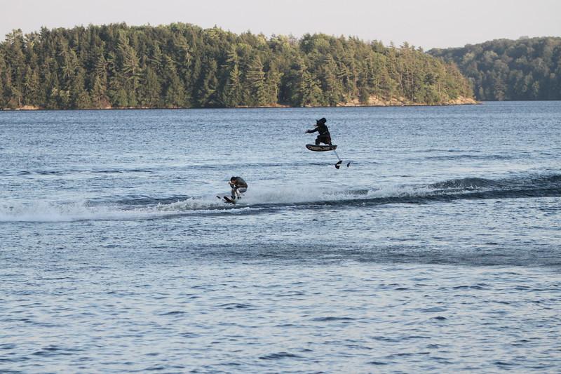Summer Water Sports Monday Night Ski Show at Clevelands House Resort in  Muskoka , Ontario. Batman 2012 Theme