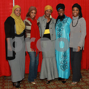 left to rgt: Khadijah Abdur-Rahim,Nadiyah Majeed, Crystal Shahid, Nefertari Hazziez and Mary Clemons all from Atlanta