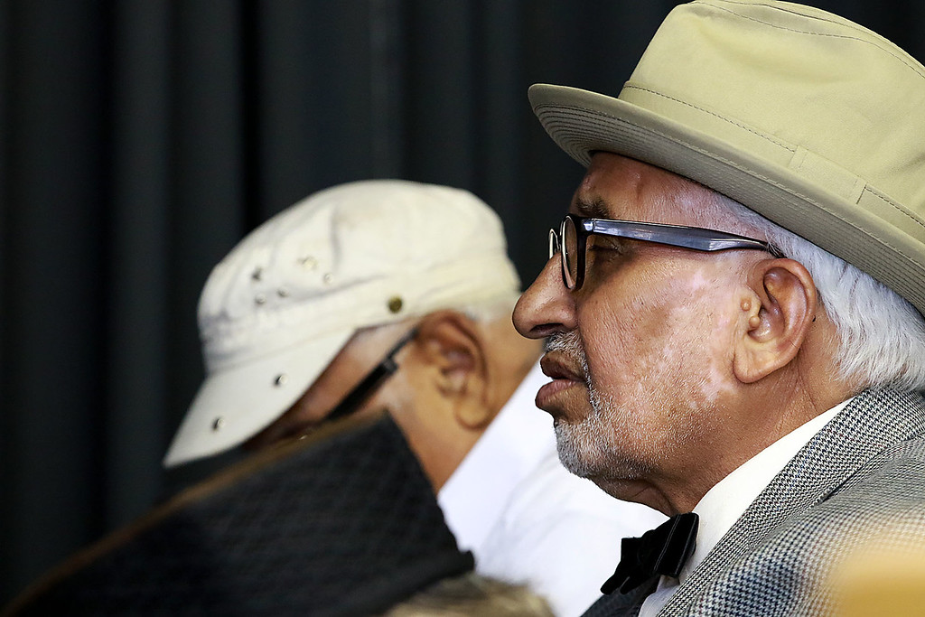 """. The Muslim holiday of Eid Al-Adha, also called the \""""Festival of Sacrifice\"""", was celebrated at Masjid Bait-ul-Zikr mosque in Fitchburg on Wednesday morning. Worshiper Bashir Mehmud prays during the ceremony at the mosque. SENTINEL & ENTERPRISE/JOHN LOVE"""