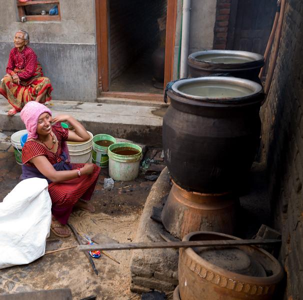 Making Rakshi (Alcoholic Drink)
