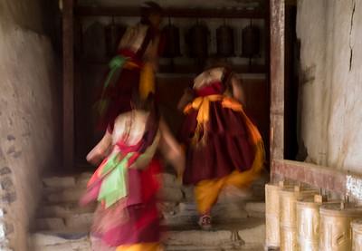 Running Upstairs at the Palace