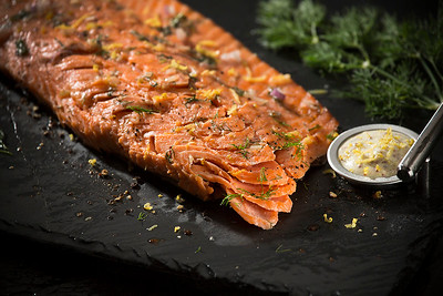 Salmon with Savoury Mustard Sauce