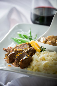 Braised & Whole Grain Mustard Glazed Short Ribs
