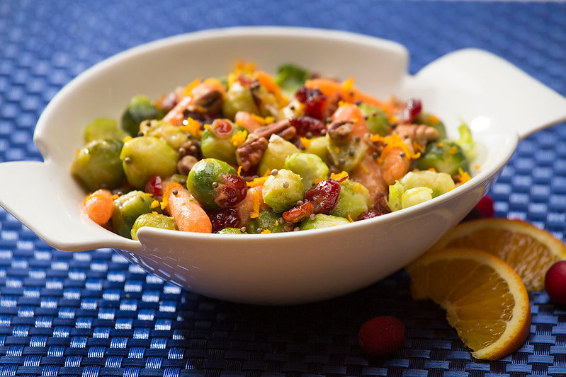 Brussels Sprouts & Carrots in Candied Orange Sauce