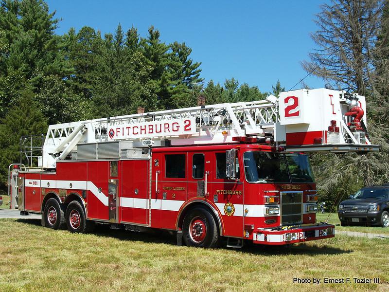 Fitchburg Tower Ladder 2 - 2003 Pierce Dash 85' Rearmount Tower