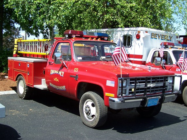 Beverly Emergency Management Unit 123 - 1980's Chevrolet Mini Pumper