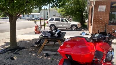 Bladder maintenance stop in Monterey, Va.