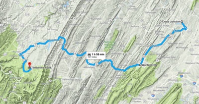 The short Day 1's route