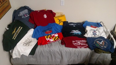 I'm not.  110 tees to choose from; narrowed to these!