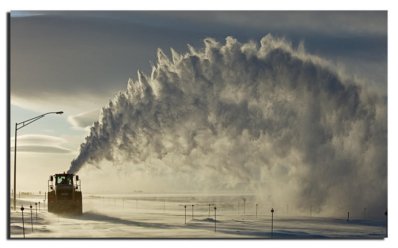 113. Moving snow can be pretty impressive................